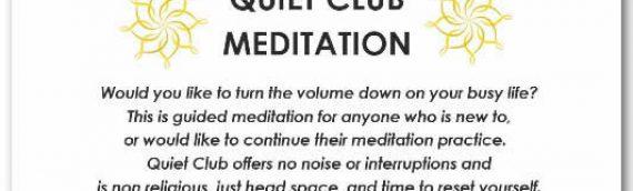 Quiet Club: Starts 9th January 2019